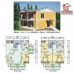 135 m2 Prefabrik Ev
