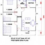 91 m2 Plan